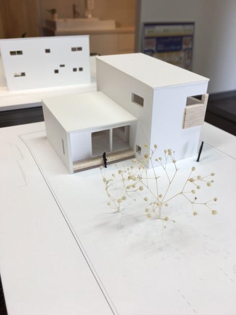S様邸、建築家から提案模型が届きました