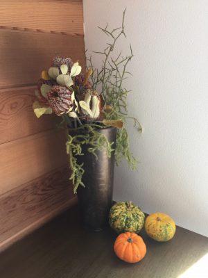 モデルハウスに新しいお花