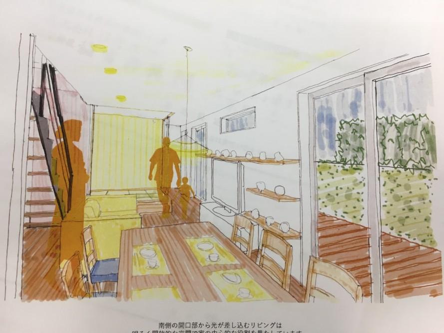 40坪ちかくになりそうな要望を、建築家はどのようにして35坪にまとめたのか。