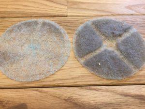 換気システムの室内排気口の掃除