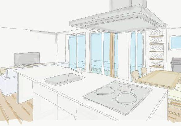「料理教室のような、広くてみんなが集まれるようなキッチンを」